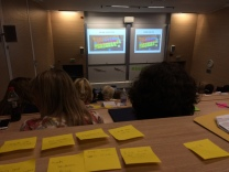 Julie Cohen's fabulous talk on the art of rewriting had us all rushing out to buy Post It notes